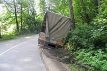 Nehoda kamionu u Protivanova