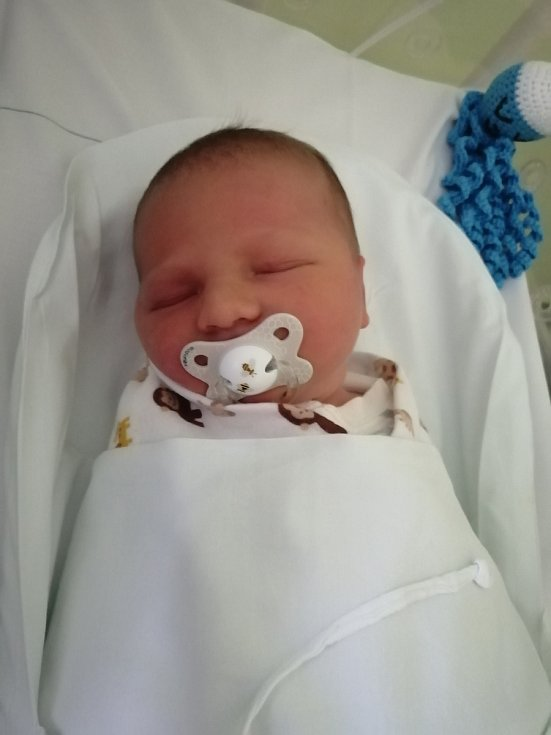 Nathaniel Janeček, Tovačov, narozen 10. října 2020 v Přerově, míra 52 cm, váha 3920 g