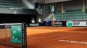 Karolína Muchová po prvním tréninku na Fed Cup v Prostějově
