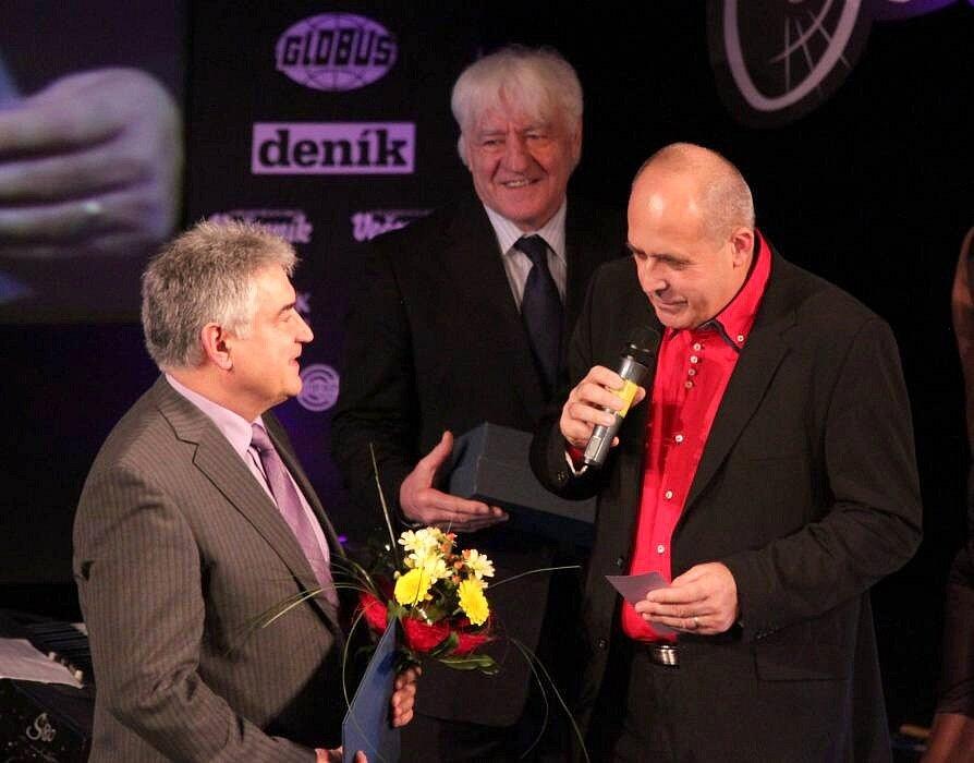 Předávání cen Sportovec Olomouckého kraje 2012: vlevo Jaroslav Šlambor