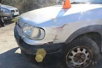 Nehoda mladé řidičky v Konici se obešla bez zranění.