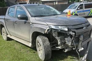 Nehoda mladíka v mitsubishi v Bukové