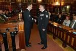 Ocenění policistů medailemi za přítomnosti významných hostů zažily v pátek dopoledne prostory prostějovské radnice.