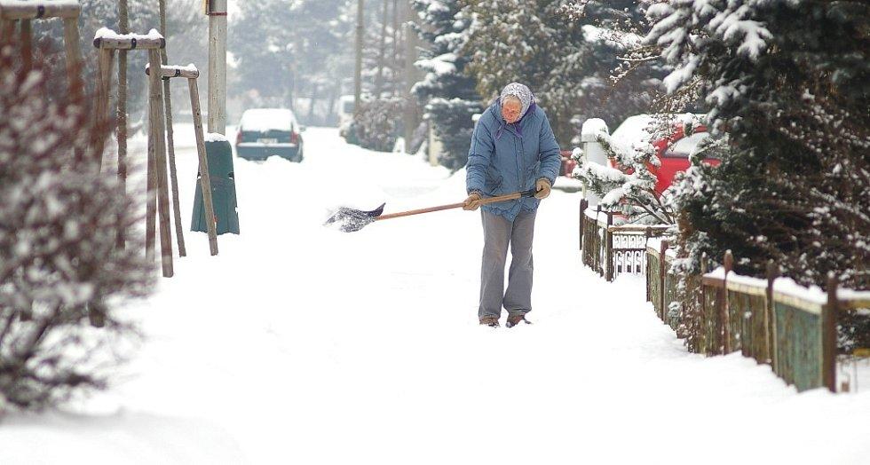 Sněhová nadílka v Olšanech u Prostějova