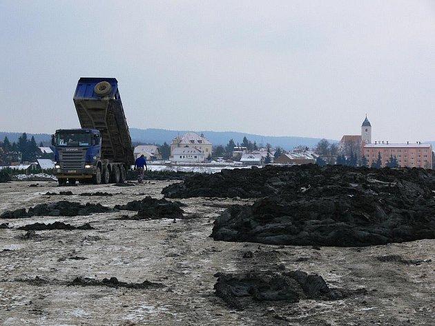 Sedimenty na poli mezi Plumlovem a Ohrozimí