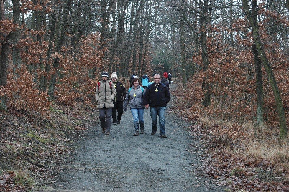Novoroční návštěvu Velkého Kosíře si nenechaly ujít tisíce turistů