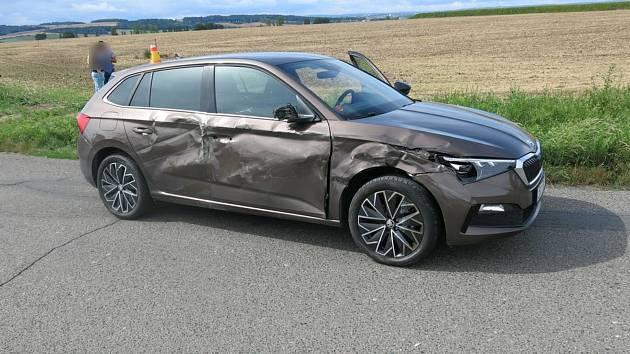 Dopravní nehoda u Určic. 31.8.2020