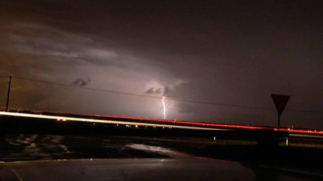 Čtvrteční bouřka nad Prostějovem
