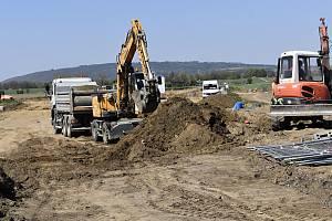 Stavba severního obchvatu Prostějova - 23. 4. 2020
