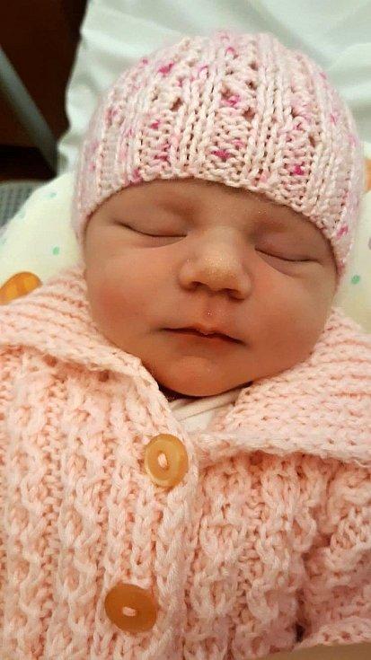 Anežka Sísová, Olomouc, narozena 26. září 2020, míra 49 cm, váha 3668 g