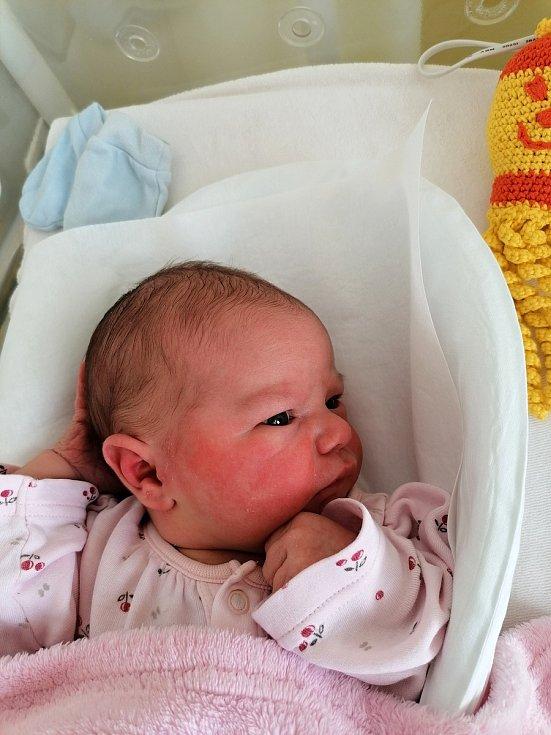 Eliška Vyňuchalová, Prosenice, narozena 22. února 2021 v Přerově, míra 53 cm, váha 3822 g