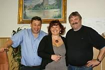 Vedení města Plumlova. Zleva místostarosta Martin Hyndrich, místostarostka Gabriela Jančíková, starosta Adolf Sušeň.
