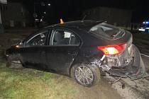 Srážka mitsubishi s BMW ve Vrbátkách