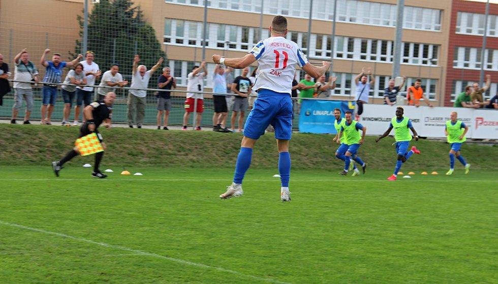 Prostějov ve druhé lize překvapivě porazil Brno 2:0. Filip Žák.
