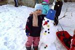 Sněhulák dětí z MŠ v Čehovicích