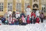 Sněhulák dětí z MŠ v Čelechovicích na Hané