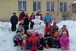 Sněhulák dětí z MŠ v Klenovicích