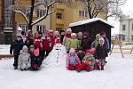 Sněhulák dětí z MŠ Kollárova