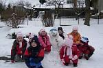 Sněhulák dětí z MŠ v Malém Hradisku