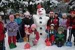 Sněhulák dětí z MŠ Železného