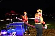 Noční závod v požárním útoku ve Vrchoslavicích - 21. června 2019