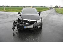 Nehoda na nebezpeční křižovatce u Čelechovice - sobota 9. června