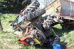 Nehoda traktoru s hnojem u plumlovské čističky