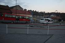 Současné autobusové nádraží v Konici