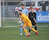 Fotbalisté Prostějova (v modrém) proti TřinciMiloslav Bréda
