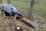 Nehoda renaultu u Vřesovic