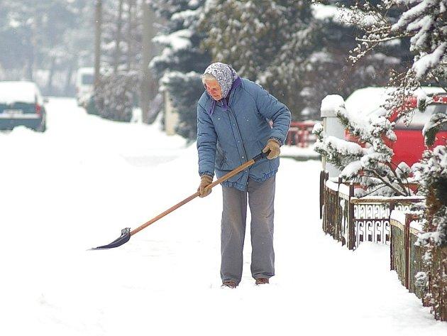 Sněhová nadílka vOlšanech uProstějova