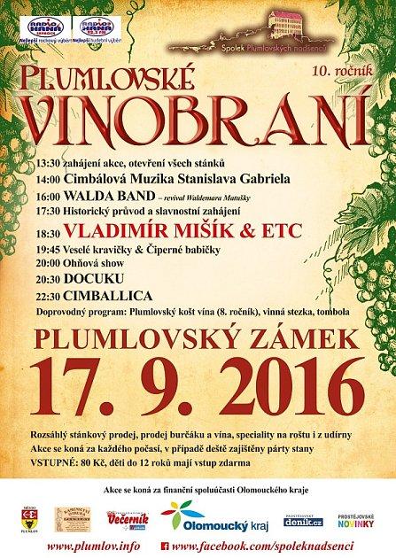 Program Plumlovského vinobraní