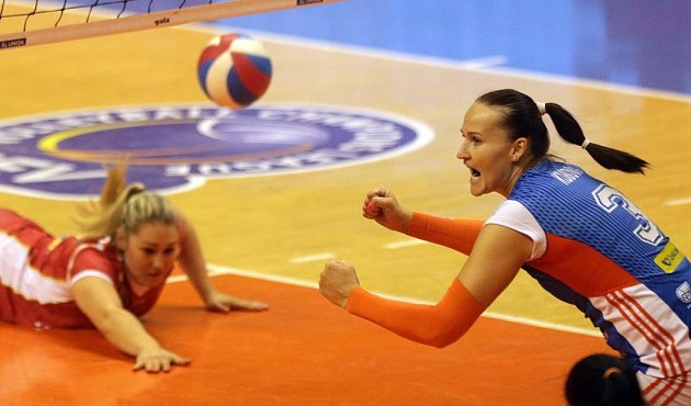 Prostějov vs. Olomouc - první zápas finálové série volejbalové extraligy žen