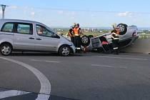 U sjezdu na Prostějov – jih se srazila dvě osobní auta. 2.7.2020