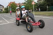 Děti na dopravním hřišti v Prostějově