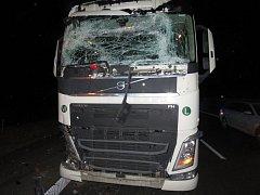 Havárie kamionu na D46 mezi Prostějovem a Olomoucí