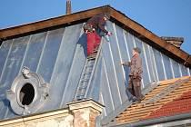 Oprava střechy prostějovského soudu