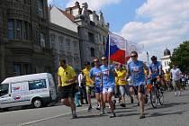 Cykloběžci proti drogám v Prostějově