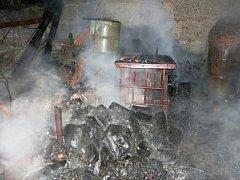 Požár přístřešku v Čechůvkách