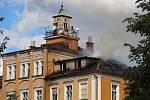 Požár zámečku Třemešek u Dolních Studének v červenci 2018