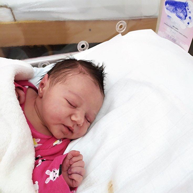 Emma Hlávková, Hranice, narozena 16. listopadu 2020 v Přerově, míra 50 cm, váha 3574 g