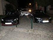 Havárie řidičky toyoty v Hradební ulici v Prostějově