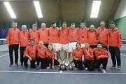 V Prostějově se konalo finále tenisové extraligy mezi domácím týmem a Spartou Praha  TK Agrofert Prostějov