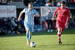 Jan Koudelka (v modrém) zařídil jediný gól v utkání.