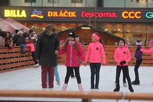 Zahájení bruslařské sezony na náměstí TGM v Prostějově