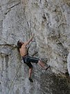 Holštejn je i rájem lezců