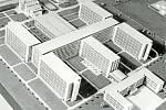 MODERNÍ VÝROBNÍ KOMPLEX. V polovině prosince 1957 byl položen základní kámen k výstavbě moderního výrobního komplexu OP Prostějov. Slavnostní otevření nového závodu po dokončení první etapy výstavby proběhlo na konci roku 1960