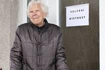 Hození lístku do volební urny má za sebou i Anastázie Pospíšilová z Držovic, která v březnu oslavila sté narozeniny