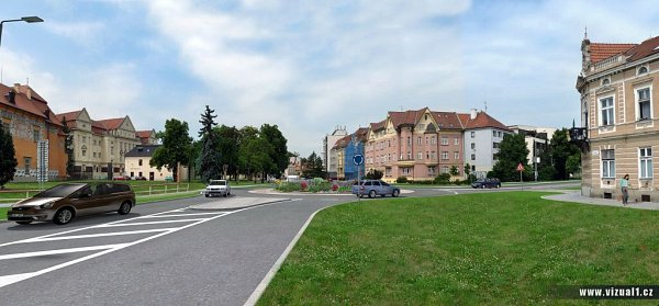 Vizualizace rondelu na Přikrylově náměstí vProstějově