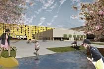 Vizualizace jednoho z návrhů na využití areálu bývalého OP Prostějov